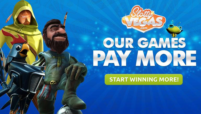 More Cash Per Win at Slotty Vegas