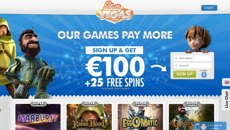 Slotty Vegas Review – Play Super Charged Slots