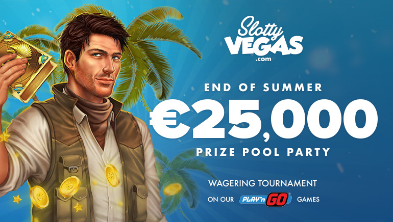 Celebrate the End of Summer With Slotty Vegas €25,000 Cash Pool Party