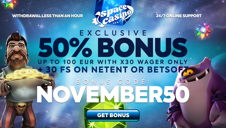 Brand New November Bonus and Free Spins at Space Casino