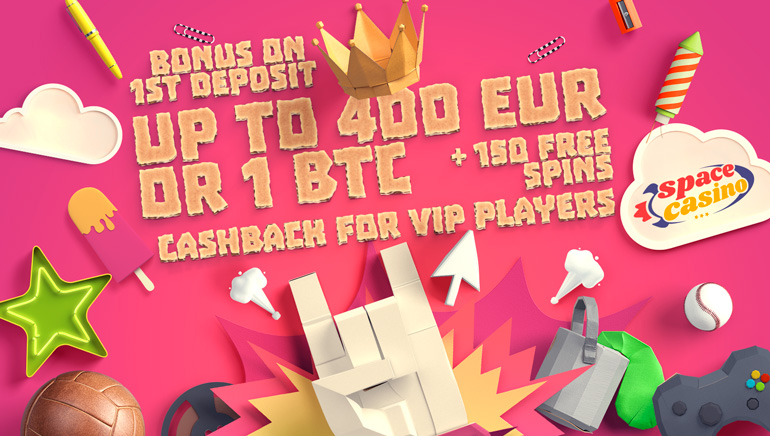 Blast Off with Space Casino's €400/1BTC Welcome Bonus