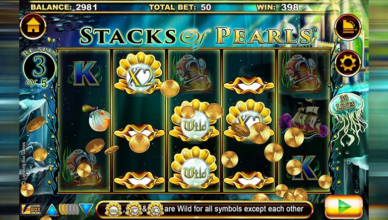 Lightning Box Dives Deep with Undersea Quest in Stacks of Pearls Slot