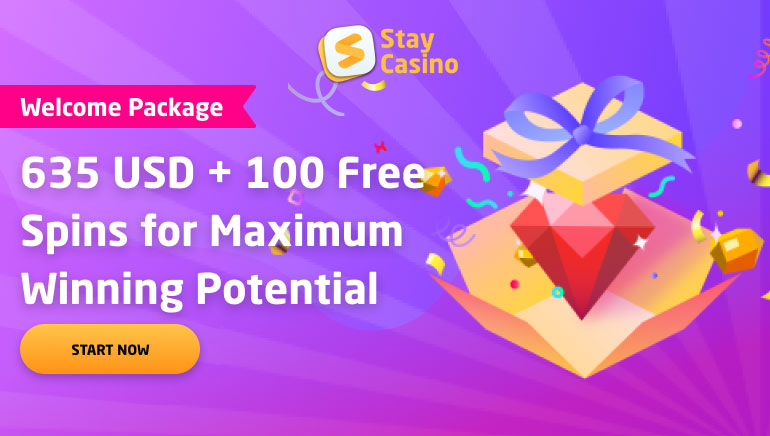 Stay Casino's €635 Welcome Bonus & 100 Free Spins