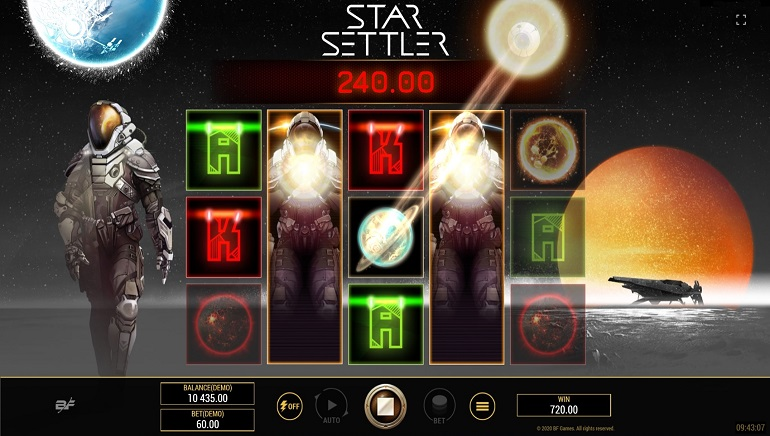 Star Settler Slot From BF Games Set To Colonise Online Casinos