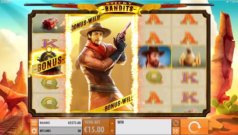 Sticky Bandits is a New Western Slot from Quickspin