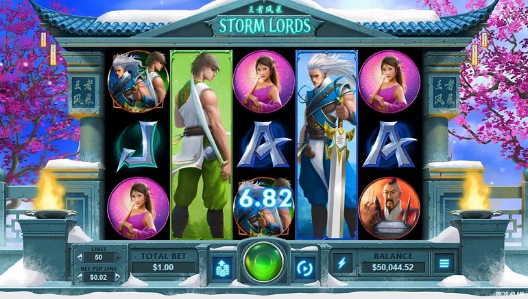 RTG's Storm Lords Slot Storm Online Casinos