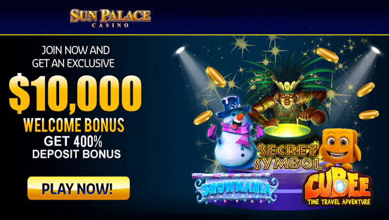Exclusive 400% Welcome Bonus Waiting at Sun Palace Casino