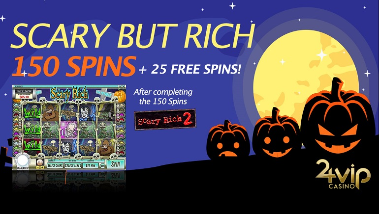 Claim Halloween Free Spins at 24VIP Casino