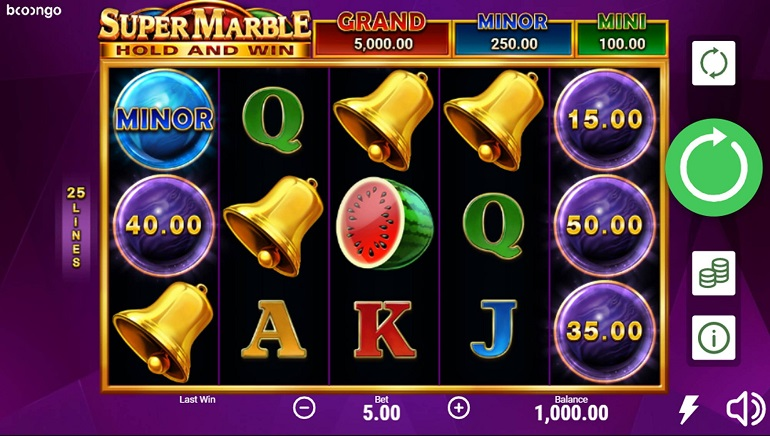 Booongo Expands Hold and Win Series with Super Marble Slot