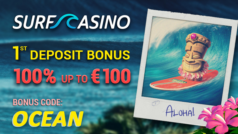 SurfCasino Makes a Splash with a 100% up to €100 Welcome Bonus