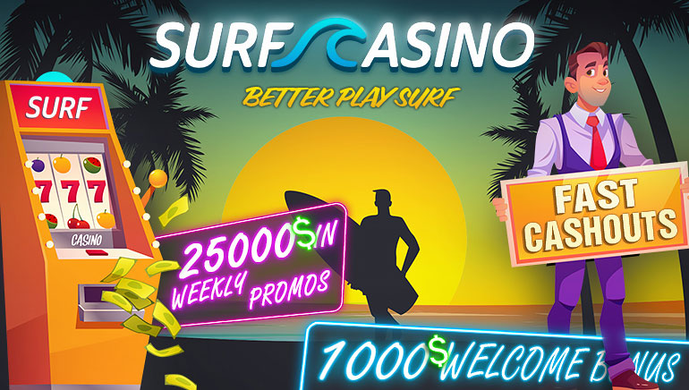 Surf Casino Offering Radical $1,000 Welcome Package