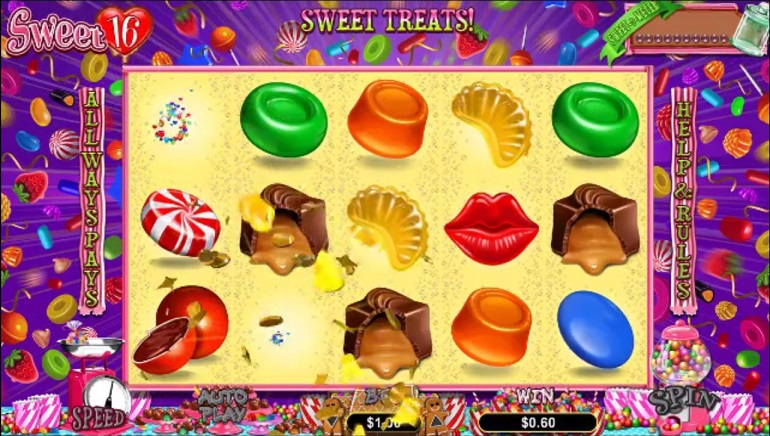 Sugary Sweets in Realtime Gaming's New Slot, Sweet 16