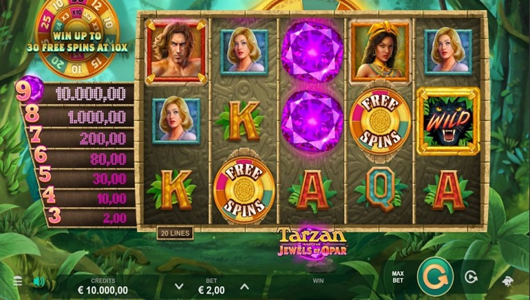 Find Adventure In The Jungle With Microgamings' Tarzan And The Jewels Of Opar Online Slot