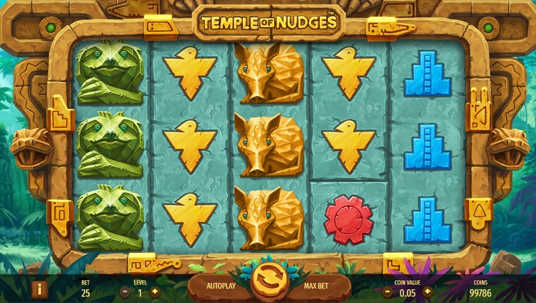 Explore the Temple of Nudges Slot from NetEnt