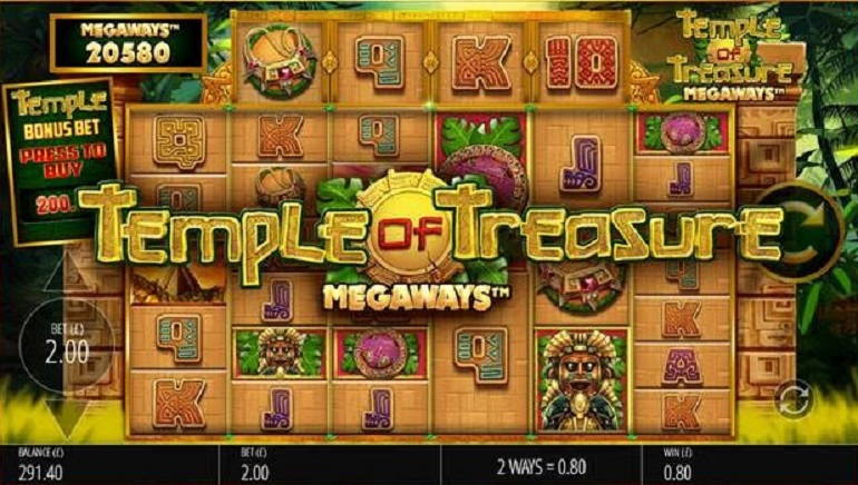Playing Temple Of Treasure Megaways by Blueprint Gaming
