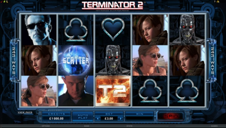 Terminator 2 Video Slot Released by Crazy Vegas