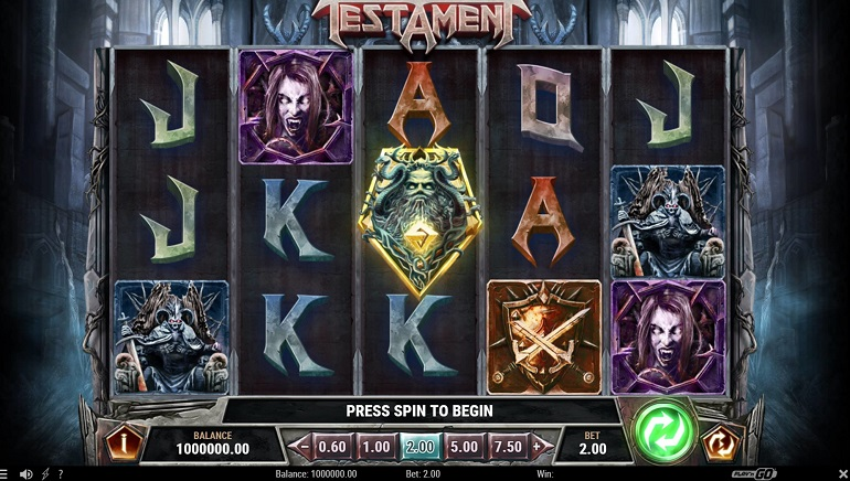 Thrash Metal Slot Testament is New from Play'n GO