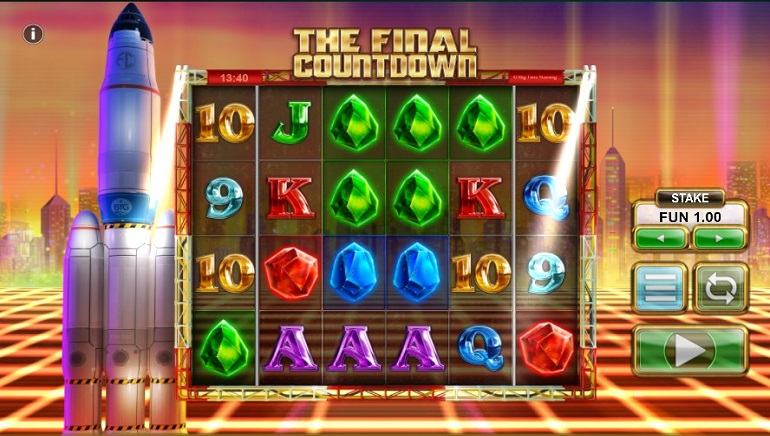 Playing The Final Countdown Slot From Big Time Gaming