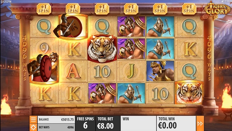 Gladiators Fight For Prizes In Quickspin's Tiger's Glory Slot