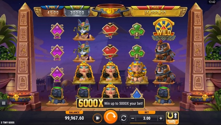 Meet Cartoon Egyptians In The 3 Tiny Gods Slot From Foxium