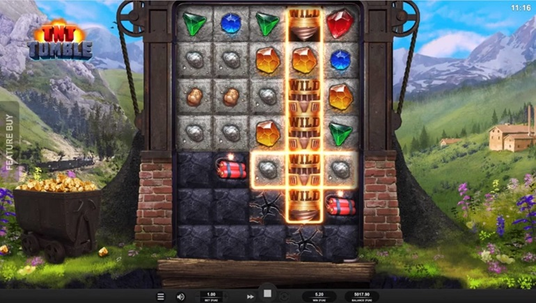 Playing TNT Tumble from Relax Gaming