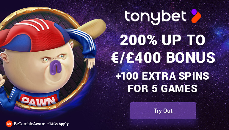 Unbeatable Welcome Bonus Package at TonyBet