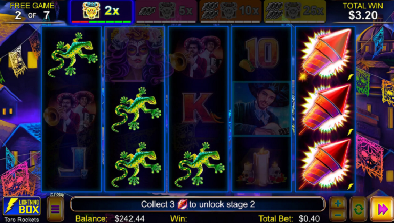Toro Rockets Online Slot From Lightning Box Games Blasts Into Casinos