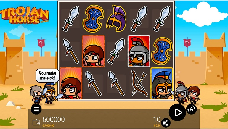 Tiny Heroes Invade Online Casinos In The Trojan Horse Slot From Zeus Play