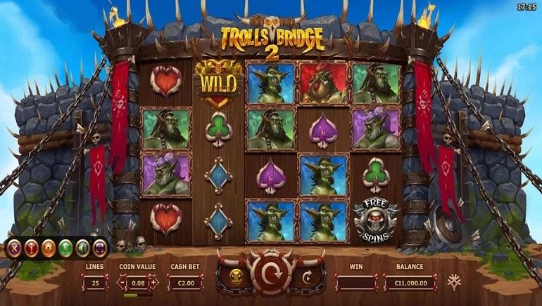 Playing Yggdrasil's Trolls Bridge 2 Slot