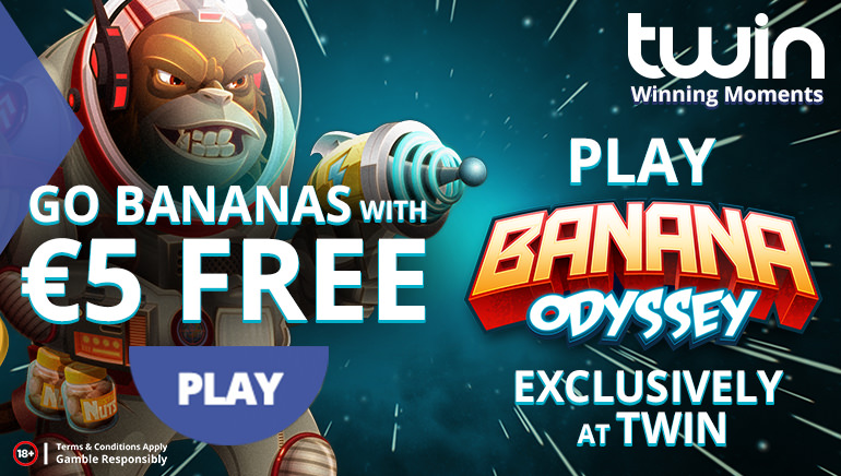 Twin Casino Goes Ape with Banana Odyssey Promotion