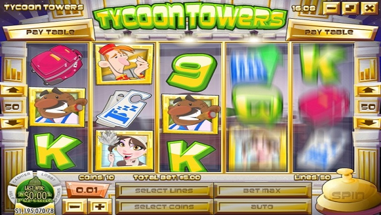 Rival's Tycoon Towers Slot Now Open for Business