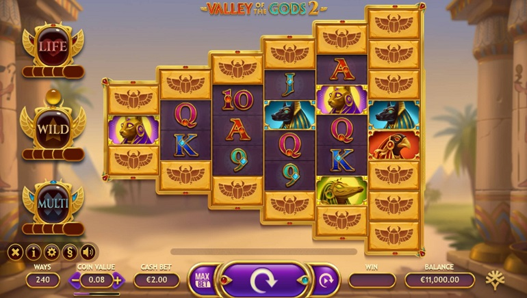 An Egyptian Adventure Awaits With The Valley Of The Gods 2 Slot From Yggdrasil