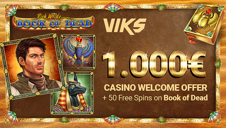 The VIKS Casino Welcome Bonus is Worth €1,000