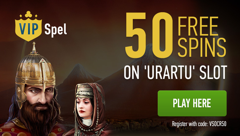 50 Free Spins Offer on Urartu Slot from OCR and VIP Spel Casino