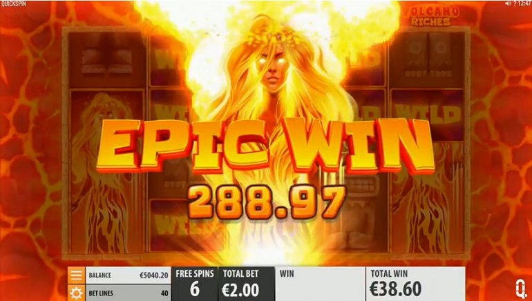 Experience 'The Ring of Fire' with Volcano Riches Slot from Quickspin