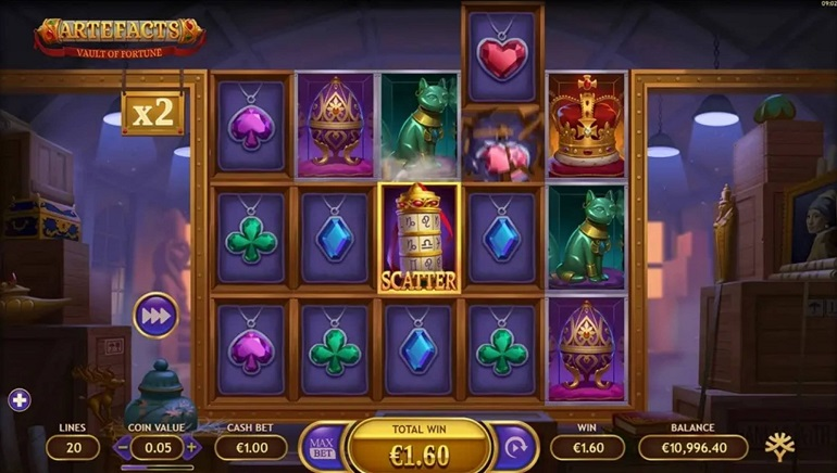 Slot Review: Artefacts Vault of Fortune by Yggdrasil