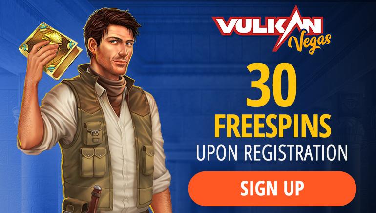 Vulkan Vegas Casino Offering 30 No Deposit Free Spins