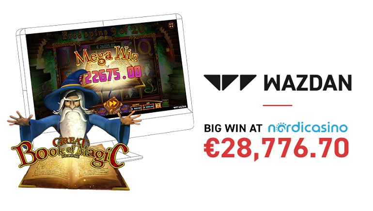 Nordicasino Player Wins €28k on Great Book of Magic Deluxe Slot
