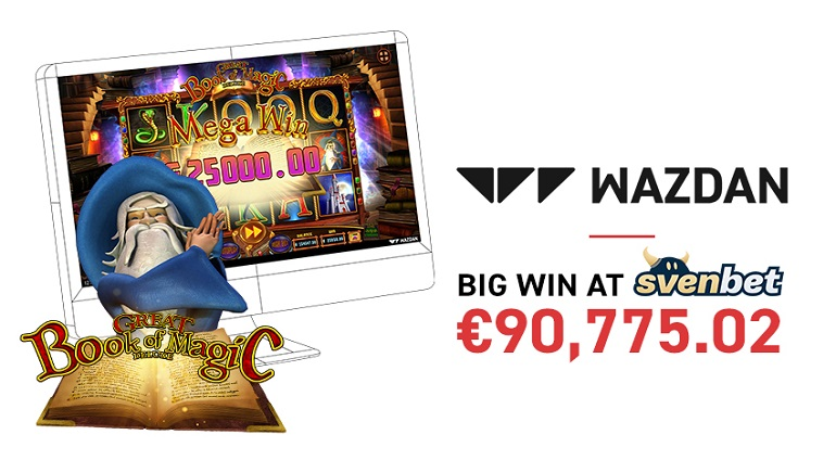 Wazdan's Great Book of Magic Deluxe Rewards Player with €90,775.02 Jackpot Payout