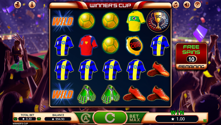Booming Games Welcomes 2018 World Cup With Winner's Cup Slot