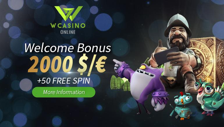 Start Big with WCasino's €2,000 Welcome Bonus & 50 Free Spins