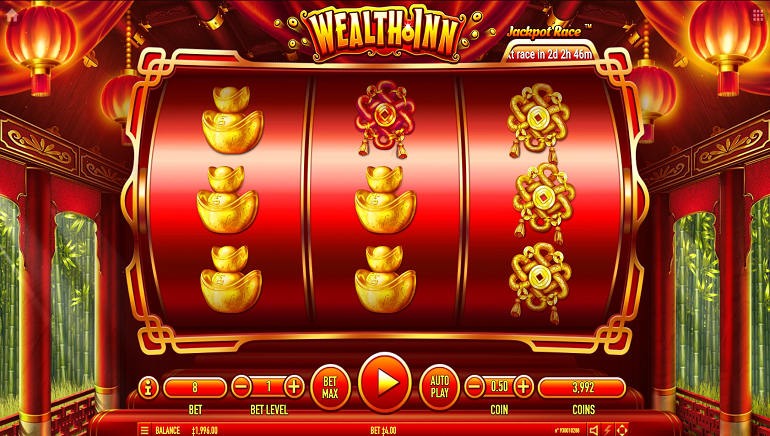 The Chinese God Of Wealth Welcomes Players To Habanero's New Wealth Inn Slot