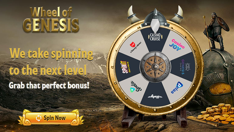 Spin the Wheel of Genesis for Huge Welcome Offers