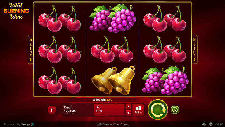 Wild Burning Wins 5 Line Slot From Playson Arrives In Time For Summer
