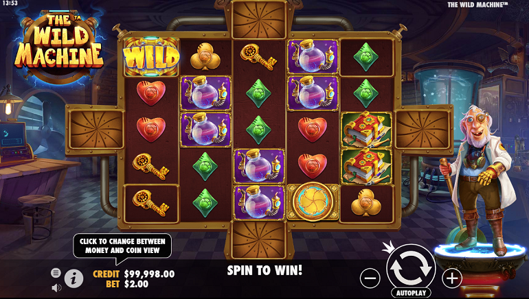 Pragmatic Play Launches Zany Slot - The Wild Machine™