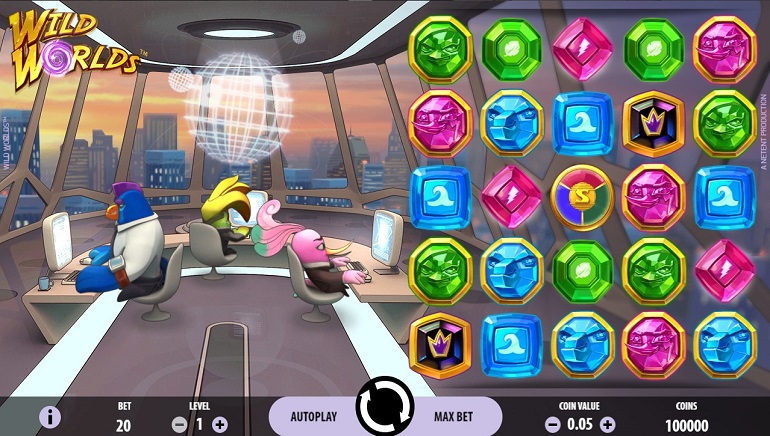 Wild Worlds Slot from NetEnt Swoops in to Save the Day