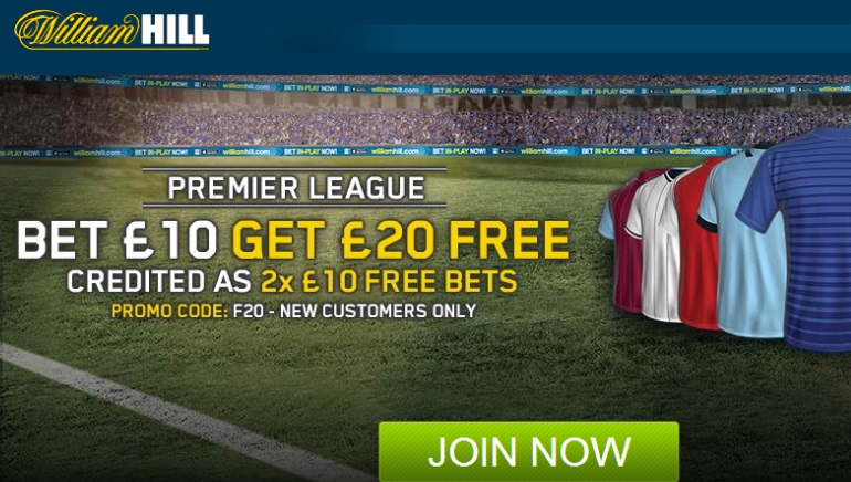 Premier League Returns with Free Bets at William Hill Sports