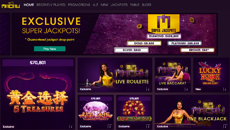 online william hill casino fast money
