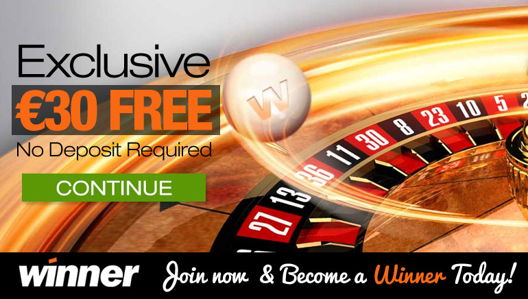 Get a $/€30 No Deposit Bonus at Winner Casino