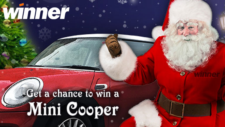 Win a Mini Cooper This Christmas at Winner Casino